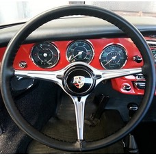 Wheelskins Genuine Leather Steering Wheel Cover - Black One Color