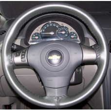 Wheelskins Genuine Leather Steering Wheel Cover - Charcoal One Color