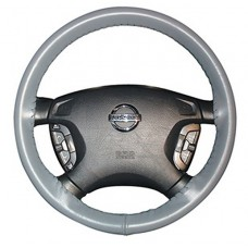Wheelskins Genuine Leather Steering Wheel Cover - Gray One Color